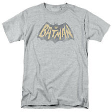 Batman Classic TV Series Show Logo Gray Licensed Adult Shirt S-3XL