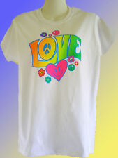 NEW HIPPY PEACE T-SHIRT - Love Smiley Heart
