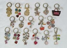 NWT Coach Key ring fob chain Locket Lucky Stars Hearts Barbie Clover w/ DUSTBAG