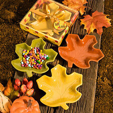 Autumn Leaf Fall Themed Candy Dish CHOOSE THREE COLORS Wedding Favor Reception