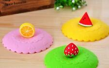1 x Cute 3d Fruit Silicon Anti-dust Cup Lid Leakproof Lid Cup Cover