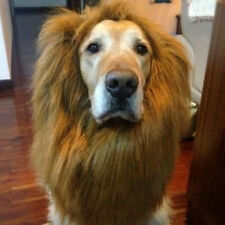 Halloween Clothes Pet Costume Lion Mane Wig for Large Dogs Cat Fancy Dress Up