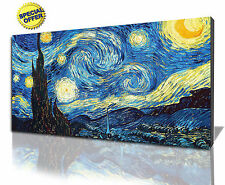 Wall Art Canvas Picture of Vincent Van Gogh Starry Night  Ready to Hang