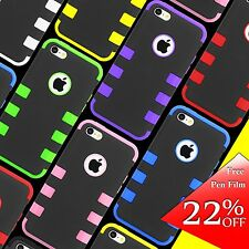 For Apple iPhone 5C Black Rugged Impact Hybrid Silicone Soft Hard Case Cover