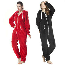Unisex Playsuit Hoody Zip One Piece Jumpsuit Nordic Way Teddy Fleece Romper
