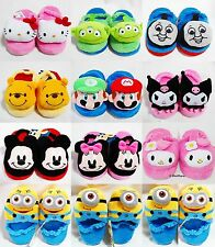 7 8 9 Boy Girl Children Kid Baby Slippers Shoes Winter Warm Fleece Plush PJ Time