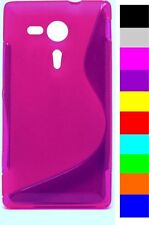 New Silicone Grip S Line Gel Case Cover for Sony  Xperia M35h/SP+Free Postage