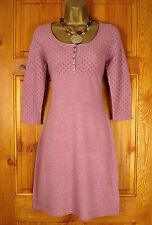 NEW WHITE STUFF 'TAILOR MADE' TUDOR ROSE PINK 3/4 SLEEVE TUNIC JUMPER DRESS TOP