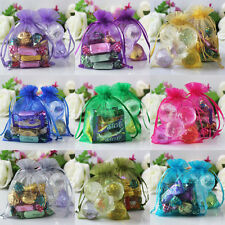 "100 pieces 10x14cm 4"" x 5 1/2"" Sheer Organza Wedding Party Favor Gift Bags Pouch"
