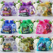 "200 pieces 10x14cm 4"" x 5 1/2"" Sheer Organza Wedding Party Favor Xmas Gift Bags"