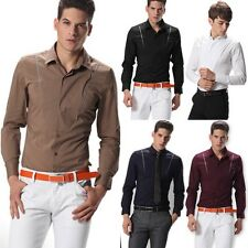 2013 New Mens Luxury COOL Formal Casual Suits Slim Fit Dress Shirt Collection