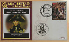 Horatio Nelson Life & Times 2008 First Day Covers: Benham Fdc Varios 2