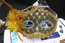 Hot Sale Cool Party Mask Costume Venetian Masquerade With Diamond & Lace
