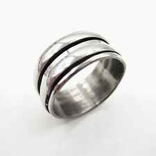 316L Stainless Steel Double Slide Row Cool Man Ring