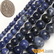 Natural Round Sodalite Jewelry Making loose gemstone beads strand 15""