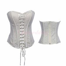 White/Black Sexy Bridal Corset Bustier Waist Training Shapewear Sizes S-2XL