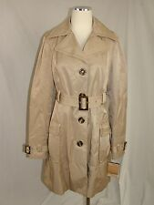 Steve Madden Khaki Button front Cotton blend Trench jacket   NWT