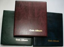 Collectors Coin Album With 6x Mixed Pages To Fit 226 Coins Spare Pages Available