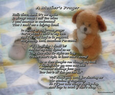 A Mother's Prayer - Boy - Beautiful 8x10 Poem Print for a New Mom Gift