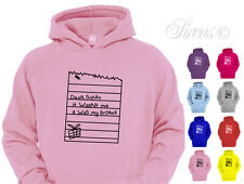 DEAR SANTA IT WASNT ME IT WAS MY BROTHER DESIGNER CHILDREN'S CHRISTMAS HOODY