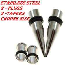 2 TAPERS-2 PLUGS-Ear Stretching-Ear Stretching Tapers -Ear Gauges-Ear Plugs-