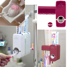 Hot Wall Mount Rack Auto Automatic Toothpaste Dispenser Toothbrush Holder Stand