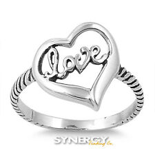 .925 Sterling Silver Fashing Love Ring  Available in Sizes 5 6 7 8 9 - Brand NEW