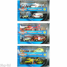 Teamsterz Emergency Team Playset Fire Engine Police Car Helicopter Ambulance NEW