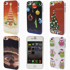 Christmas Tree Gift Owl Cloud Print Hard Back Shell Case Cover for i Phone 4 4S