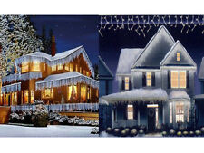 CHRISTMAS 720 LED SNOWING ICICLE BRIGHT PARTY WEDDING XMAS OUTDOOR LIGHTS W/ WB