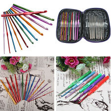 Various of Aluminum Metal Plastic Bamboo Crochet Hooks Knitting Needles Set