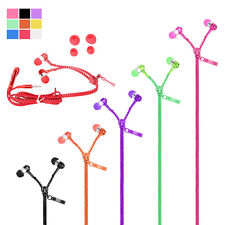 3.5mm Tangle-Free Zipper Earphone Headset Earbuds for iPhone 6  5 MP3 MP4 Tablet
