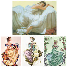 Needlepoint Complete Counted Cross Stitch Kits Royal Theme Queen, Palace X'mas