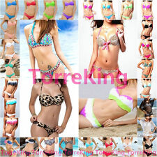 SWIM 2014 Hot SEXY GIRL Women Bikini Set PUSH-UP HALTER Padded Bra Swimwear