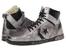 Converse John Varvatos JV Weapon Mid Sneaker Leather SILVER $250 136489C RARE!