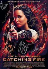 THE HUNGER GAMES Catching Fire Cast x 12 SIGNED Autographed PHOTO Print POSTER 2