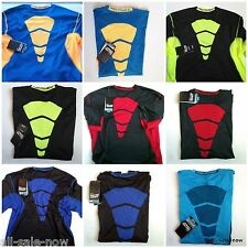 MENS NIKE PRO COMBAT FITTED COMPETITION BASE LAYER COMPRESSION DRI-FIT SHIRT