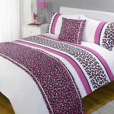 Bed In A Bag Duvet Bedding Set Quilt Cover - Leopard Pink - All Sizes