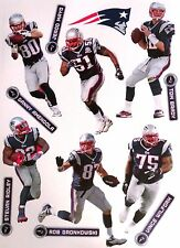 "New England Patriots Mini FATHEAD Official NFL Vinyl Wall Graphic 7"" - PICK ONE"