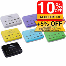 LASER Universal USB 10 Port Charger AC Power Charging Station Socket 1A 2.4A