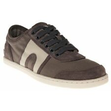 New Mens Camper Grey Brown 18787 Canvas Trainers Suede Lace Up