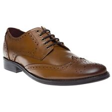 New Mens SOLETRADER Tan Colombo Leather Shoes Brogue Lace Up