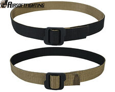 Tactical Military Nylon Double-sided Belt with Buckle Black & Coyote Brown M-XL