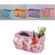 Beauty Flower Multifunction Folding Makeup Cosmetics Storage Box Organizer 001