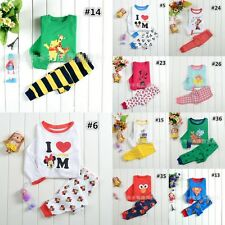 Wholesale 6pcs(1pc per size:90-130) Baby Boy Girl Clothes Sleepwear Pyjamas Set