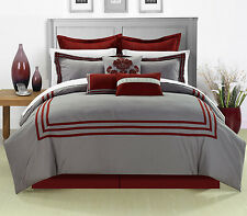 Cosmo Red 8 Piece Comforter Bed in A Bag set