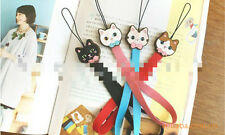 ♥ Sweet Cat Kitten phone strap charm iphone Uk seller decorate kid cute ♥