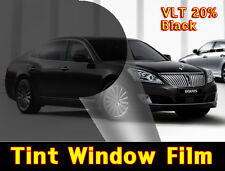 "WIDE:20""/VLT 20% Black Solar Film/Tint/Window/Glass/1PLY Normal/Privacy/Roll/"