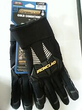 New! IRONCLAD Cold Condition Insulated Work Gloves Water Resistant Black L or XL