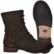 "Caterpillar CAT Womens Marin 6"" Casual Lace Up Heeled Shoes Boots - Chili"